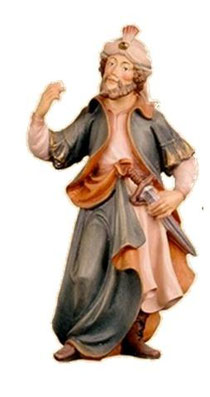 Bild Krippenfigur Thomas Kameltreiber aus Ahornholz geschnitzt