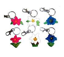 Bild Schlüsselanhänger Gebirgsblumen 649822 aus Holz