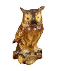 Bild Kauz aus Ahornholz geschnitzt Nr. 1041