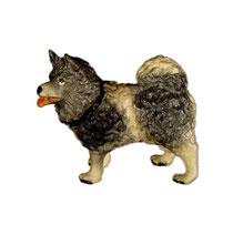 Bild Krippentier Polarhund aus Ahornholz geschnitzt