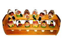 Bild Flaschenkorken Enten Nr. 649871 handgeschnitzt aus Holz