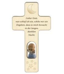 """Bild Kinder-Gebetzskreuze """"Lieber Gott"""" Nr. K503 aus Holz"""