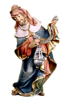 Bild Krippenfigur Thomas König Weiss aus Ahornholz geschnitzt