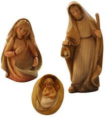 Bild Krippenfiguren Thomas modern Hl. Familie aus Ahornholz geschnitzt