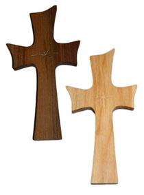 Bild Kreuz Stern aus Holz