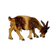 Bild Krippentier Ziege grasend aus Ahornholz geschnitzt