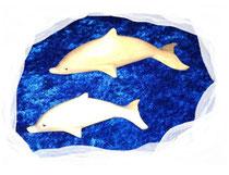 Bild Deko Delphine aus Holz
