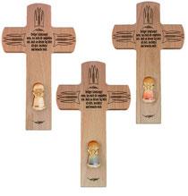Bild Gebetskreuz mit Lunaengel aus Holz