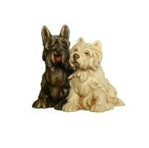 Bild Hunde Black & White Nr. 1019 aus Ahornholz geschnitzt