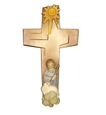 """Bild Kreuz """"Der gute Hirt"""" Nr. K100 aus Holz"""