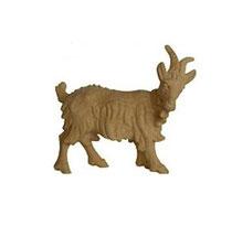 Bild Krippenfigur Ziege mit Glocke handgeschnitz aus Zirbenholz