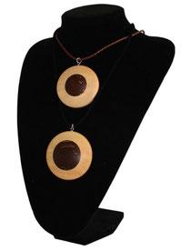Bild Halskette Medaillon Birken/Palme