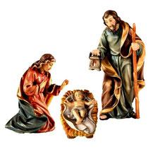 Bild Krippenfiguren Heilige Familie Joshua aus Ahornholz geschnitzt