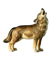 Bild Wolf stehend heulend Nr. 1052 aus Ahornholz geschnitzt
