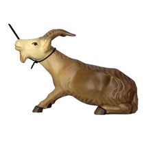 Bild Krippenfigur Mirja Starrköpfige Ziege aus Ahornholz geschnitzt