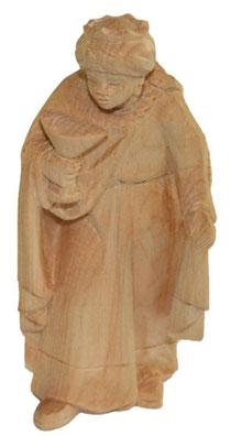 Bild Krippenfigur König Mohr handgeschnitzt aus Zirbenholz