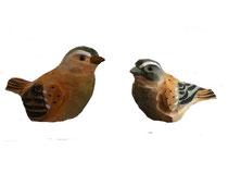 Bild Vögel Nr. BC-13 handgeschnitzt aus Holz