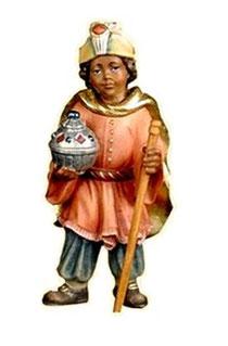 Bild Krippenfigur Thomas Mohr Page aus Ahornholz geschnitzt