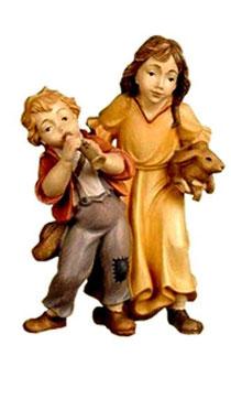 Bild Krippenfigur Thomas Kindergruppe aus Ahornholz geschnitzt