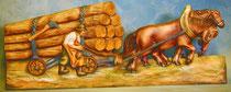 Bild Holzfigur Relief Holzfuhrwerk Nr. 186 handgeschnitzt