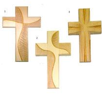 Bild Kreuz schlicht aus Holz