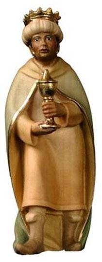 Bild Krippenfigur Mirja König Mohr aus Ahornholz geschnitzt