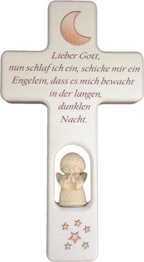 """Bild Kinder-Gebetskreuz """"Er begleitet"""" Nr. K506 aus Holz"""