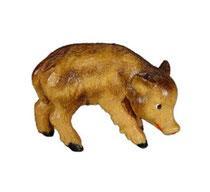 Bild Wildschwein Frischling Nr. 1064 aus Ahornholz geschnitzt
