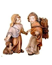 Bild Krippenfigur Thomas Geschwisterpaar aus Ahornholz geschnitzt