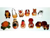 Bild Tiere gemischt 651182k handgeschnitzt aus Holz
