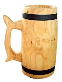 Bild Bierkrug 0,75l Birkenholz