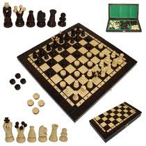 Bild Schach mit Dame aus Holz Nr. 165A