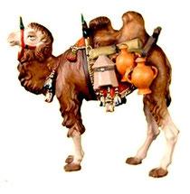 Bild Krippentier Kamel mit Gepäck aus Ahornholz geschnitzt