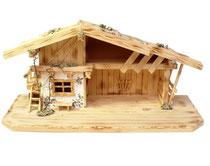 Krippenstall Holz Berghütte