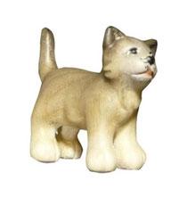 Bild Krippenfigur Mirja Katze aus Ahornholz geschnitzt