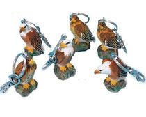Bild Schlüsselanhänger Adler Nr. 20098 handgeschnitzt aus Holz