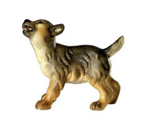 Bild Wolfswelpe stehend Nr. 1054 aus Ahornholz geschnitzt