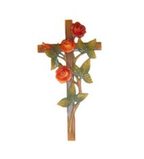 Bild Kreuz mit Rosen Nr. 6073 aus Holz