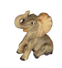 Bild Elefant sitzend Nr. 1097 aus Ahornholz geschnitzt