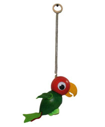 Bild Schwingfigur Papagei rot grün aus Holz