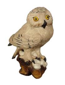 Bild Schneeeule Nr. 1042 aus Ahornholz geschnitzt