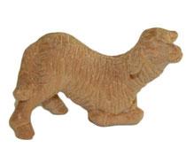 Bild Krippenfigur Schaf kniend handgeschnitzt aus Lindenholz