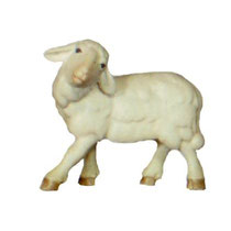 Bild Krippenfigur Thomas modern Schaf rechts schauend aus Ahornholz geschnitzt