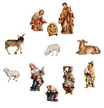 Bild Krippenfiguren Thomas Set 11 tlg. aus Ahornholz geschnitzt