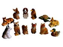 Bild Tiere gemischt Nr. BC-4 handgeschnitzt aus Holz