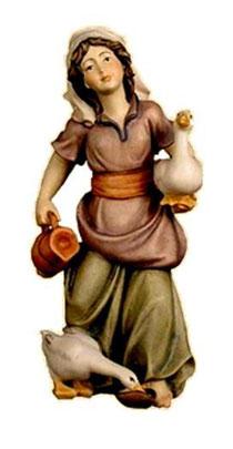 Bild Krippenfigur Thomas Wasserträgerin aus Ahornholz geschnitzt