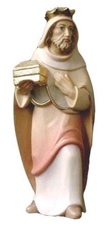 Bild Krippenfigur Mirja König Weiß aus Ahornholz geschnitzt