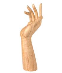Bild Verkaufsdisplay Hand aus Holz