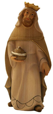 Bild Krippenfigur Thomas modern König Weiss aus Ahornholz geschnitzt
