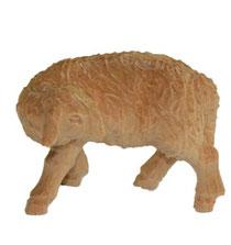 Bild Krippenfigur Schaf zurückschauend handgeschnitzt aus Zirbenholz